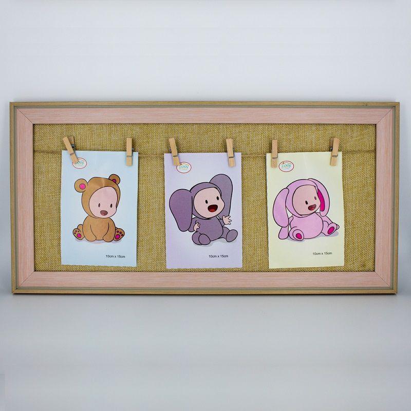 Porta Retrato Bebê Rosa com Prendedor  - Shop Ud
