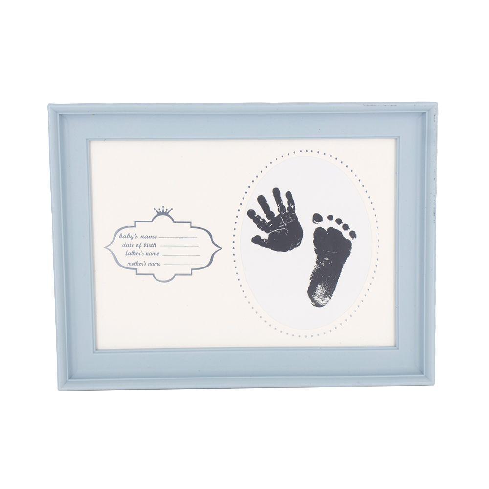 Porta Retrato Carimbo Bebê Recém Nascido - Pequeno - Azul