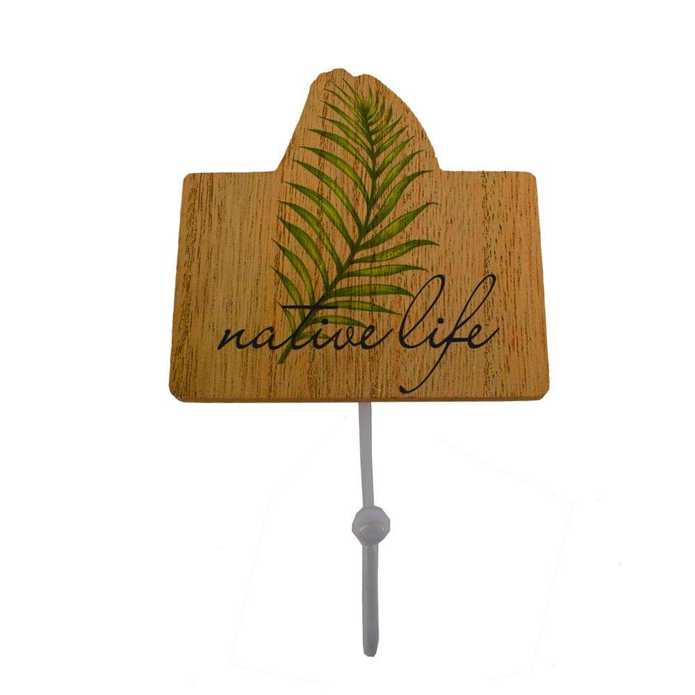 Porta Toalha com Gancho MDF – Native Life (Folha Estreita)  - Shop Ud