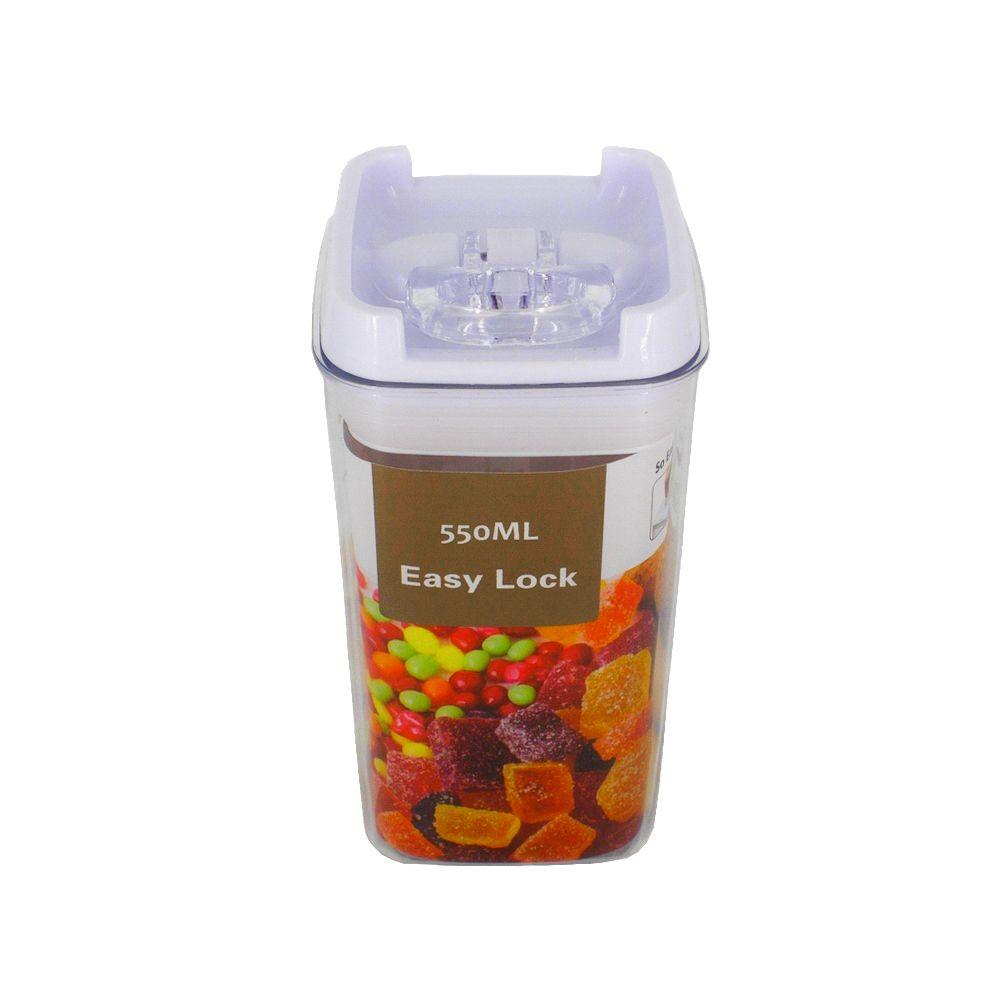 Pote Hermético à Vácuo para Alimentos – Quadrado (550ML)