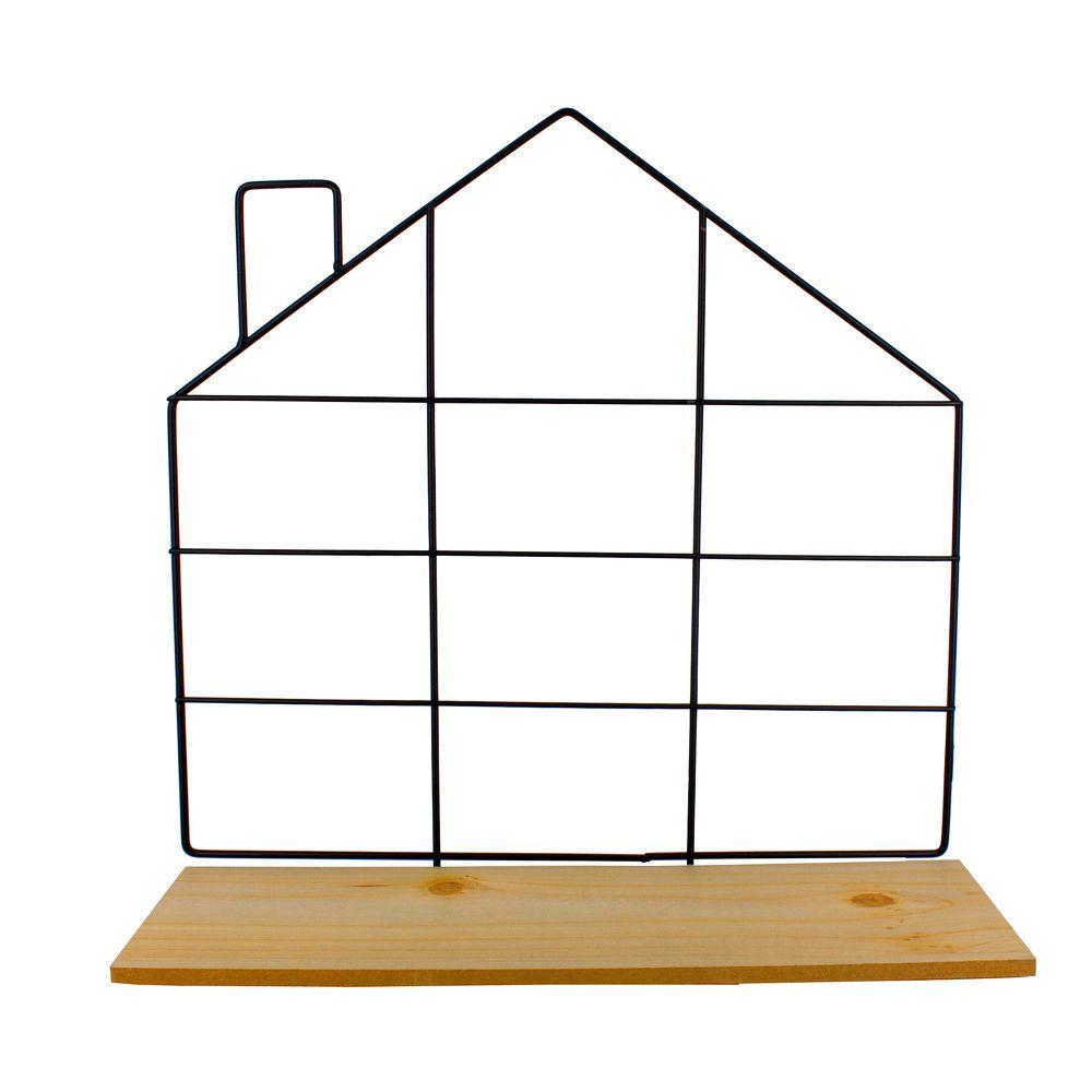 Prateleira Decorativa de Ferro - Casa 29,8cm(A)x29,8cm(L)  - Shop Ud