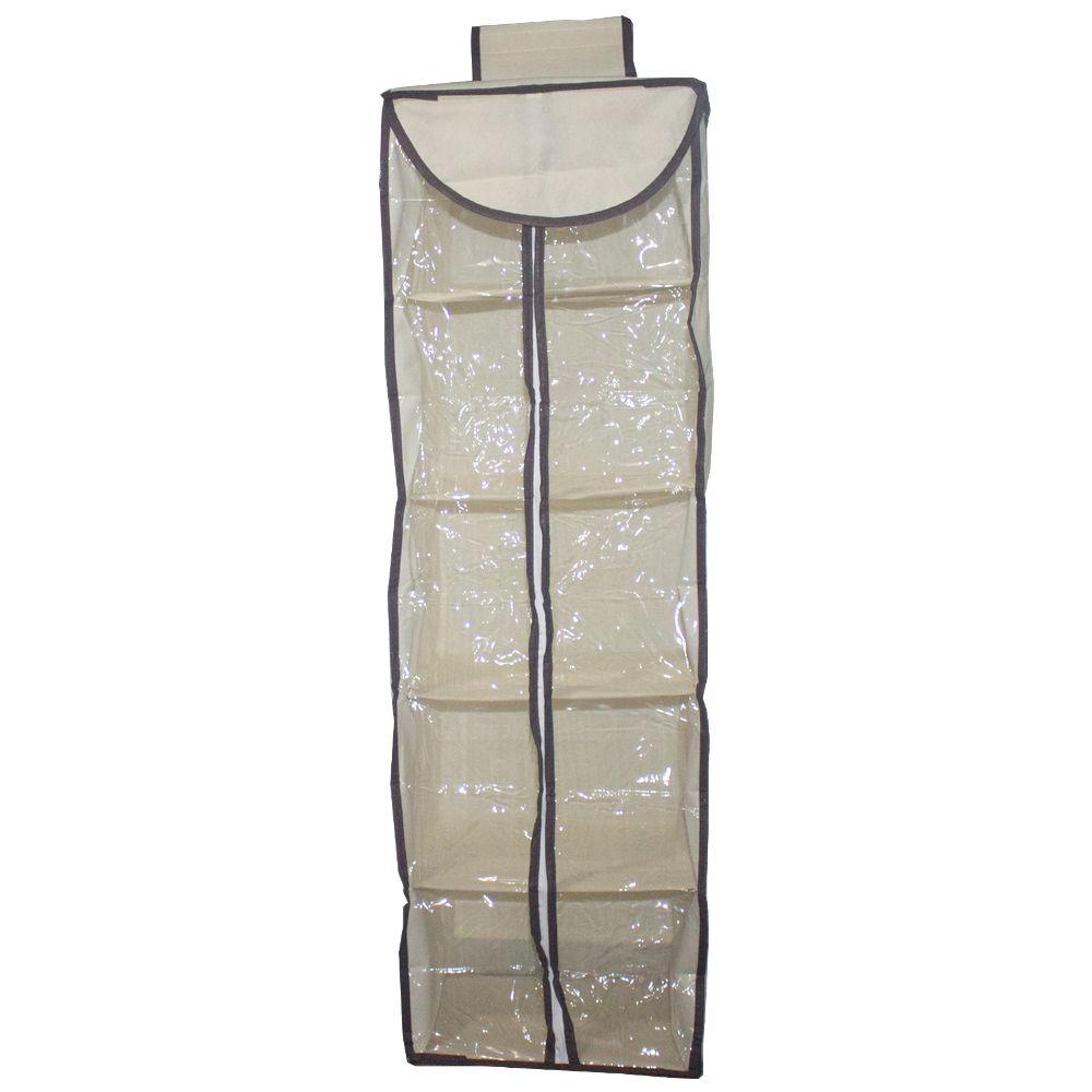 Prateleira Organizadora Guarda Roupa 10 Nichos Zíper Marfim  - Shop Ud