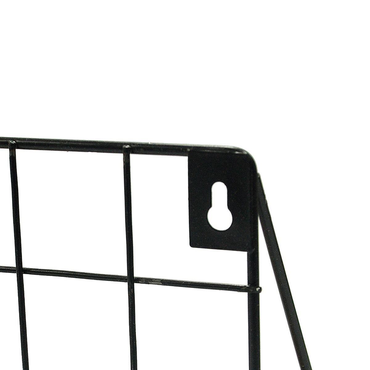 Prateleira Retangular 45cmx12cmx20cm Preta em Ferro com Madeira  - Shop Ud
