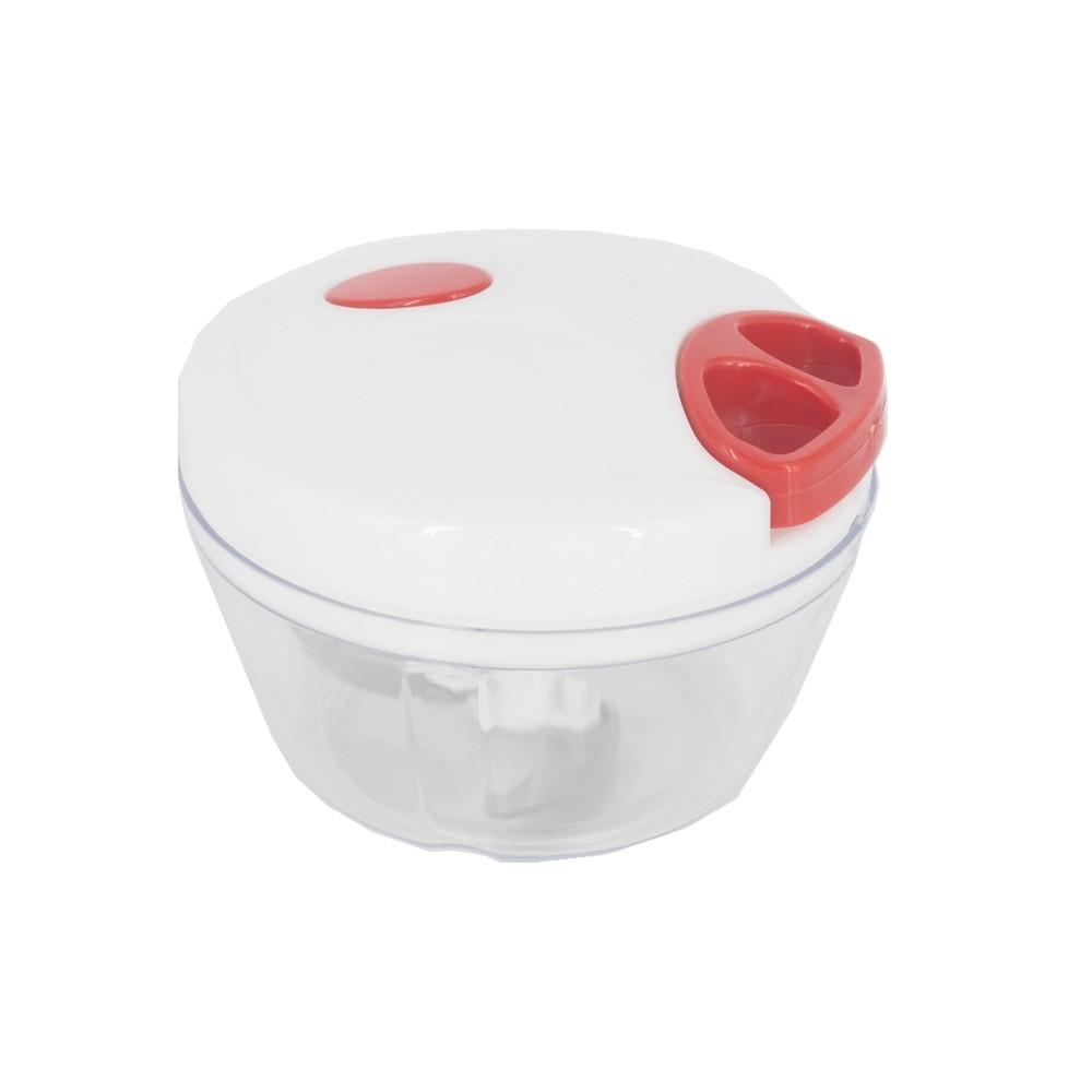 Processador Triturador Manual Alimentos 3 Lâminas Vermelha  - Shop Ud