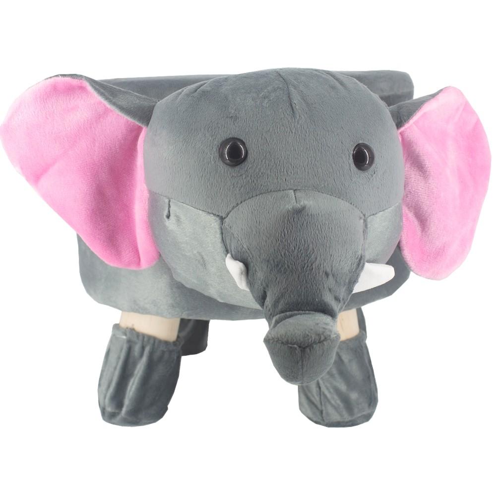 Puff Redondo Banquinho Banqueta Infantil -  Elefante  - Shop Ud
