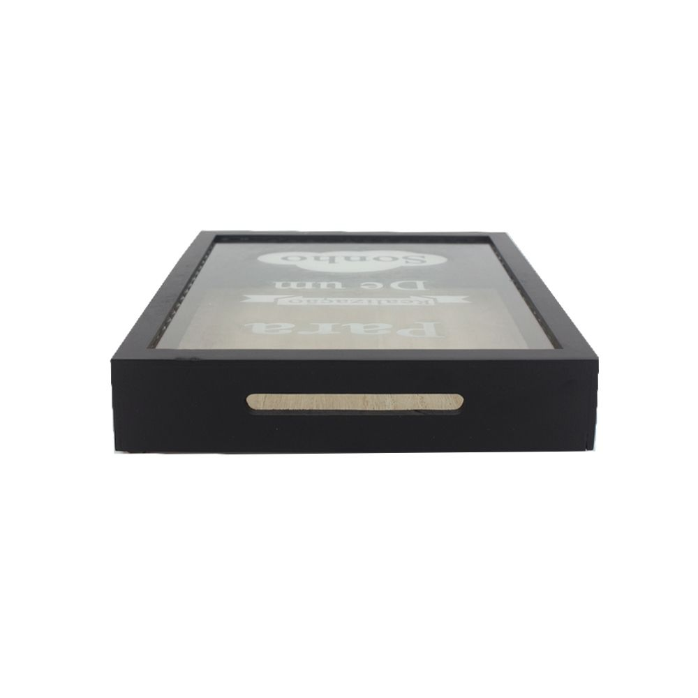 Quadro Cofre MDF Para Realização de Um Sonho Preto 24x19,5  - Shop Ud