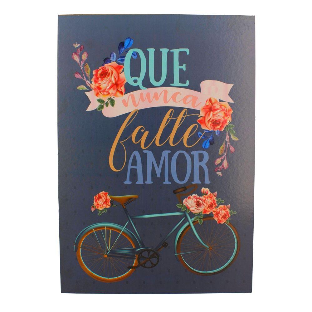 Quadro Decorativo – Bicicleta e Flores MDF  - Shop Ud