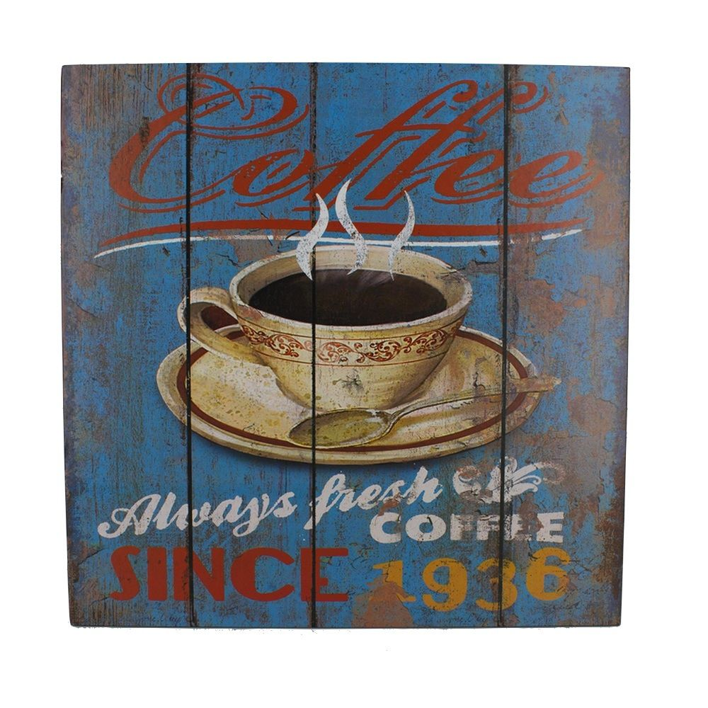 Quadro Decorativo – Café Retro 1936 MDF