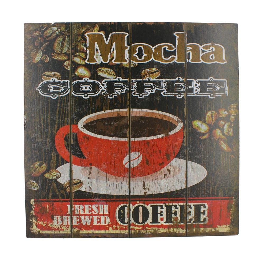 Quadro Decorativo – Caffé Mocha MDF  - Shop Ud
