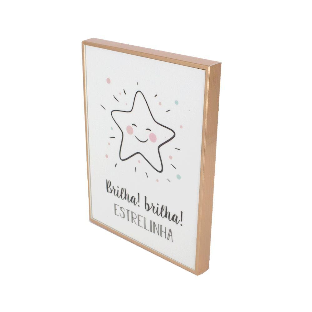 Quadro Decorativo - Com Glitter - Brilha, Brilha, Estrelinha  - Shop Ud
