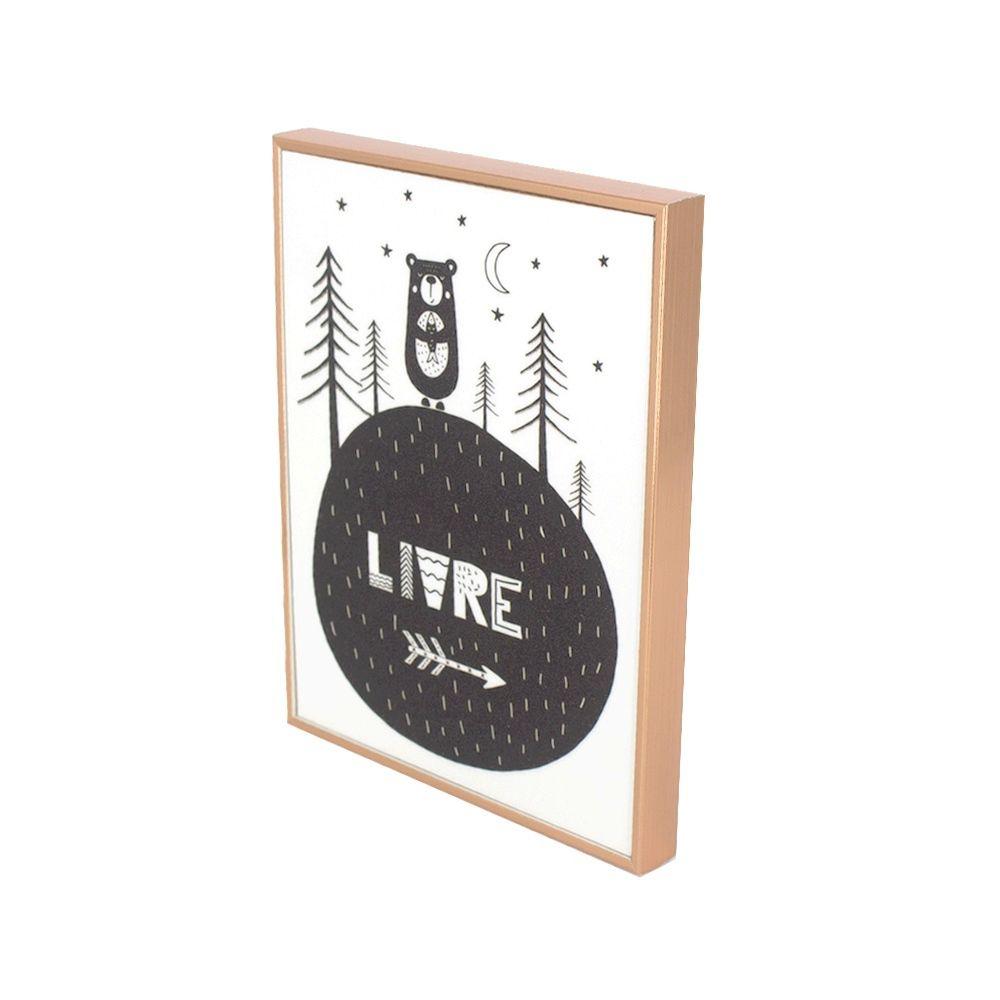 Quadro Decorativo - Com Glitter - Urso - Livre  - Shop Ud