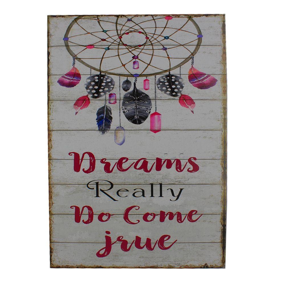 Quadro Decorativo – Dreams Really Do Come True (MDF)  - Shop Ud