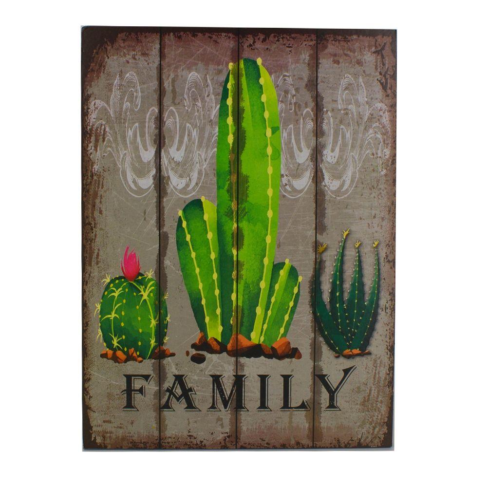 Quadro Decorativo – Family - Cactos MDF