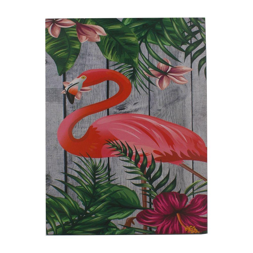 Quadro Decorativo – Flamingo Tropical MDF  - Shop Ud