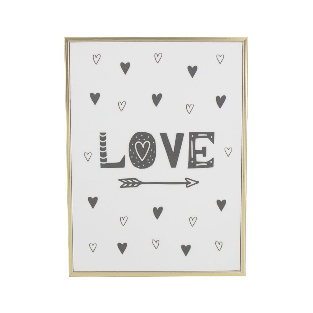 Quadro Decorativo Infantil - Love - Corações