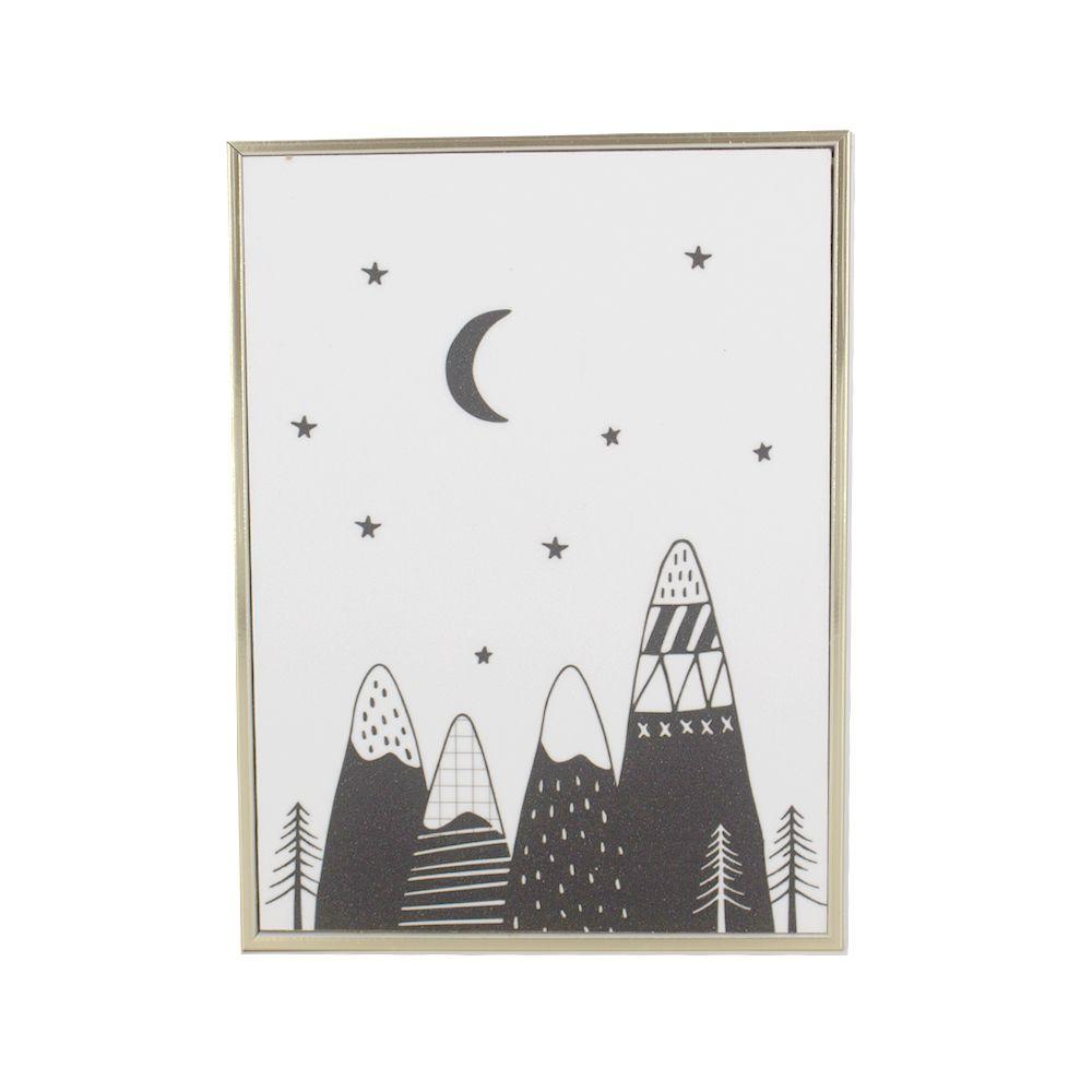 Quadro Decorativo Infantil - Montanhas - Lua Estrelas  - Shop Ud