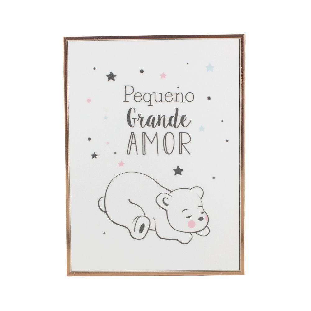 Quadro Decorativo Infantil Pequeno Grande Amor (Urso Polar)  - Shop Ud