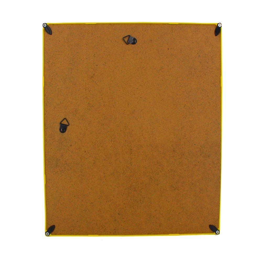 Quadro Decorativo – Moldura Amarela (Comece e Recomece) - 30x25  - Shop Ud