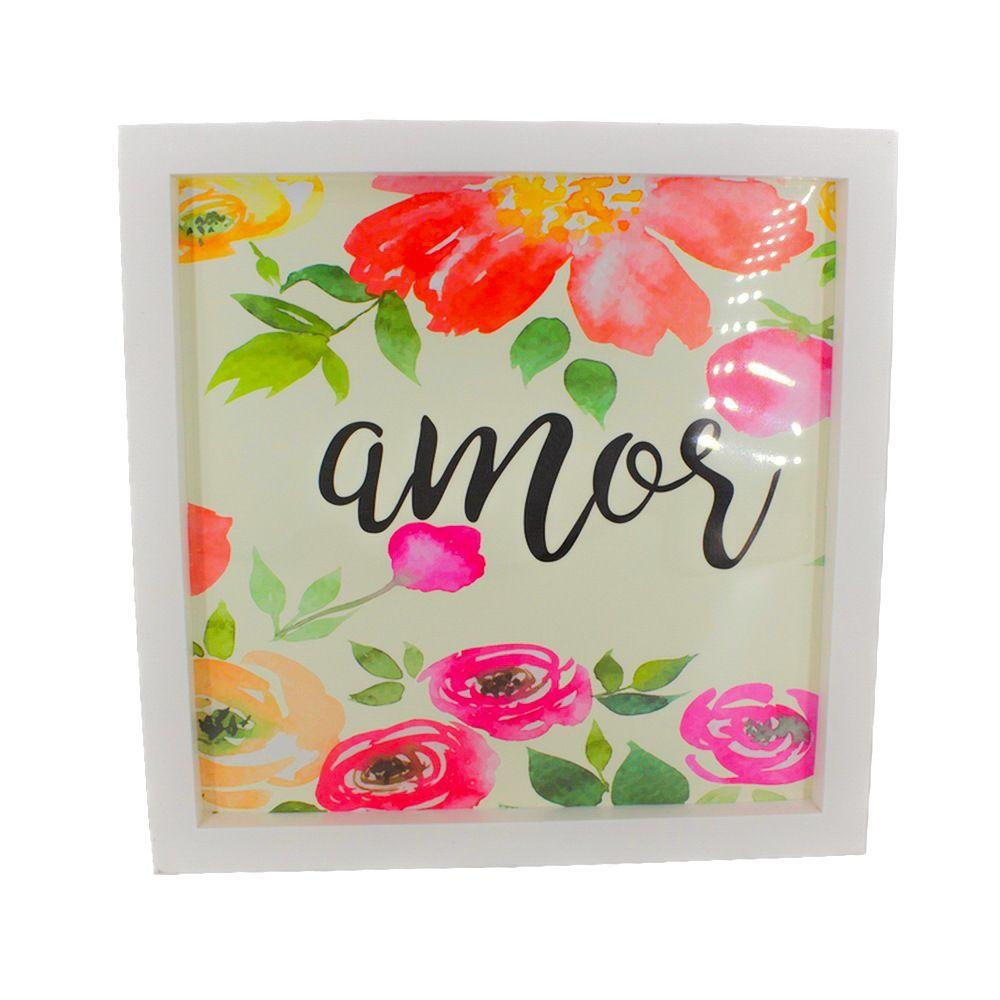 Quadro Decorativo – Moldura Branca (Amor) - 25x20  - Shop Ud