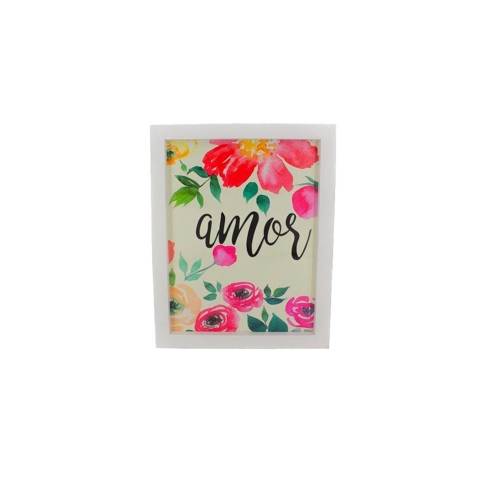 Quadro Decorativo – Moldura Branca (Amor) - 25x25cm  - Shop Ud