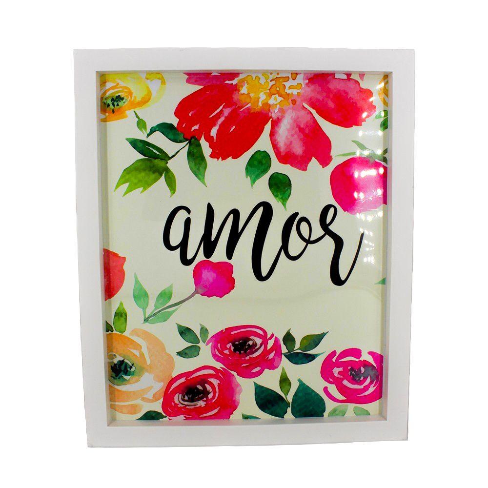 Quadro Decorativo – Moldura Branca (Amor) - 30x25  - Shop Ud