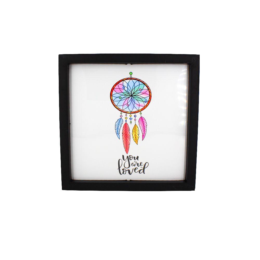 Quadro Decorativo – Moldura Preta (Filtro dos Sonhos) - 25x20   - Shop Ud