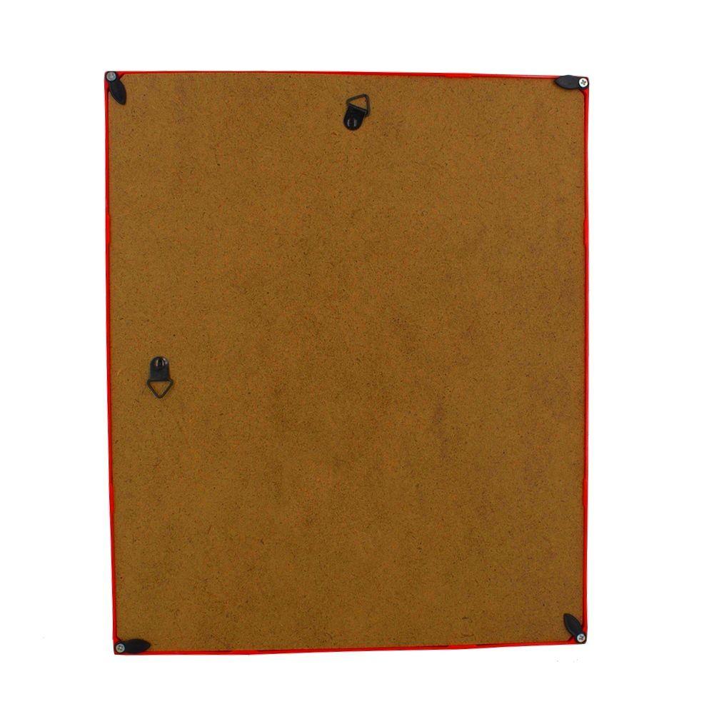 Quadro Decorativo – Moldura Vermelha (O bem entra) - 30x25  - Shop Ud