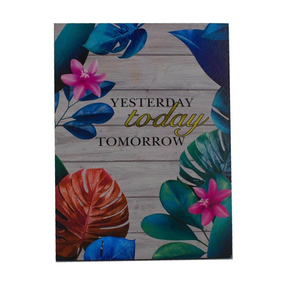 Quadro Decorativo – Yesterday...Folhagem Colorida MDF