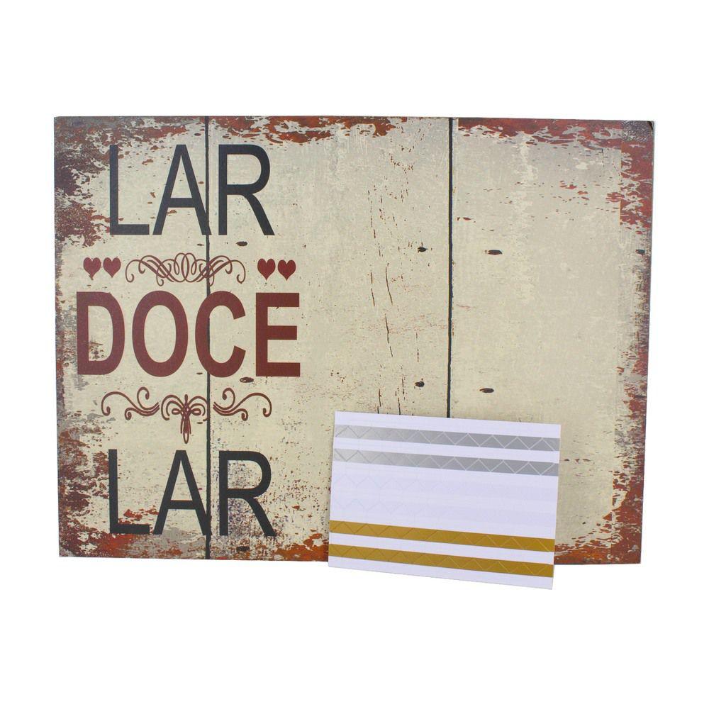 Quadro e Mural de Foto com adesivo colante - Lar doce Lar