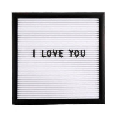 Quadro Letreiro Decorativo Recado Letter Board Preto  - Shop Ud