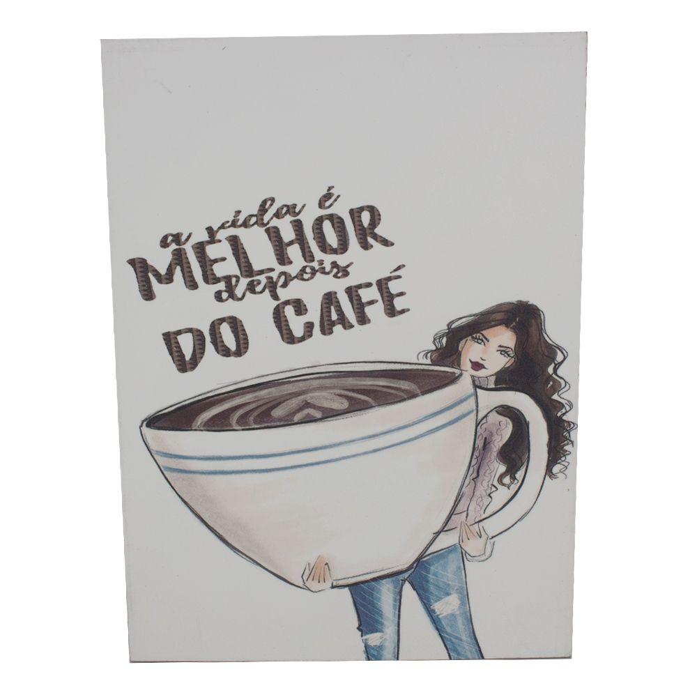 Quadro para Parede - A Vida é Melhor Depois do Café Glitter  - Shop Ud