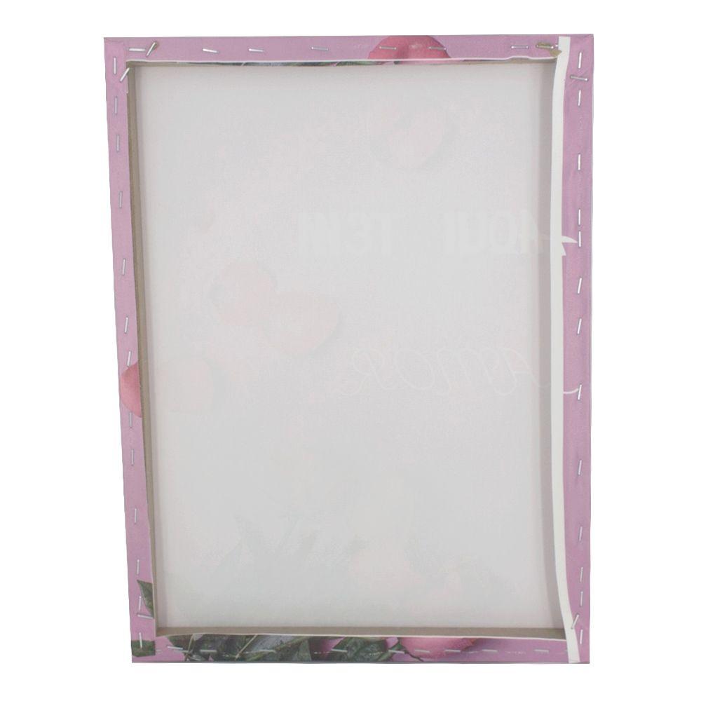 Quadro para Parede - Aqui tem Amor (Rosas) 40x30cm  - Shop Ud