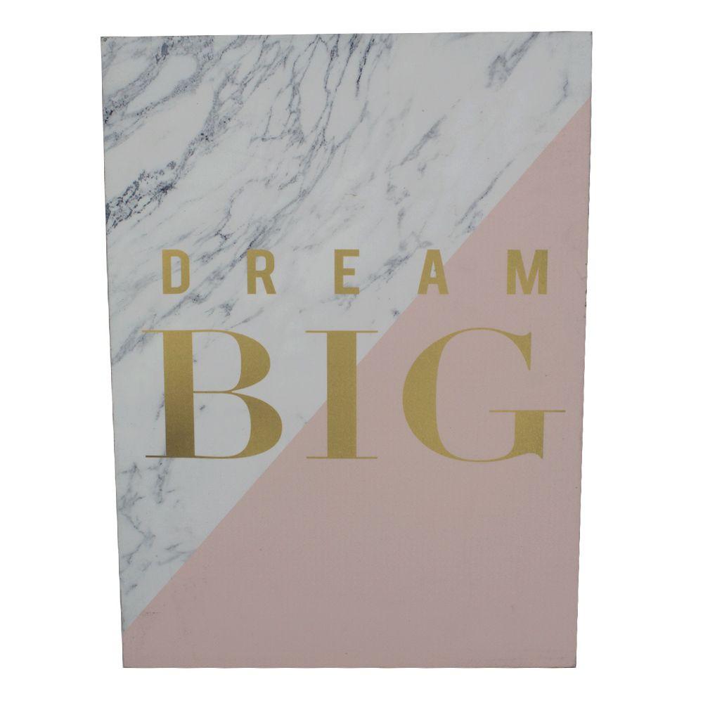 Quadro para Parede - Dream BIG (Grande Sonho)  - Shop Ud