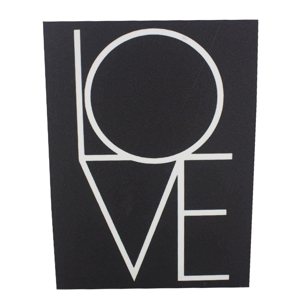 Quadro para Parede - LOVE (Preto e Branco) - Com Glitter  - Shop Ud