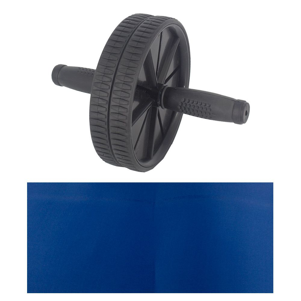 Roda Exercícios Abdominal Lombar AB WHEEL+ Apoio - Preto  - Shop Ud