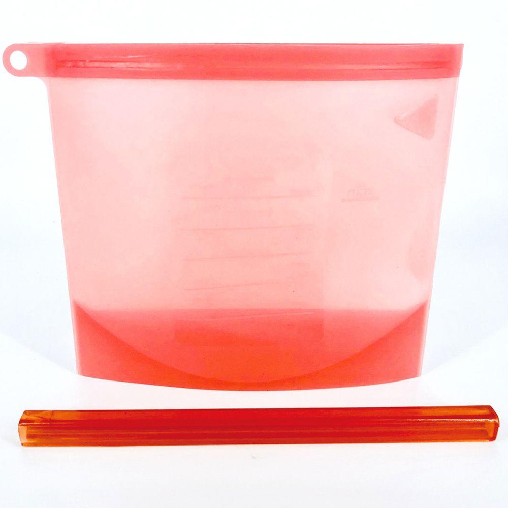 Saco de Alimentos de Silicone 1000ml - Vermelho  - Shop Ud