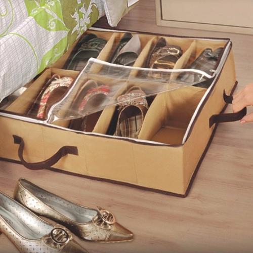 Sapateira Flexível  VB Home para 12 pares Marrom  - Shop Ud