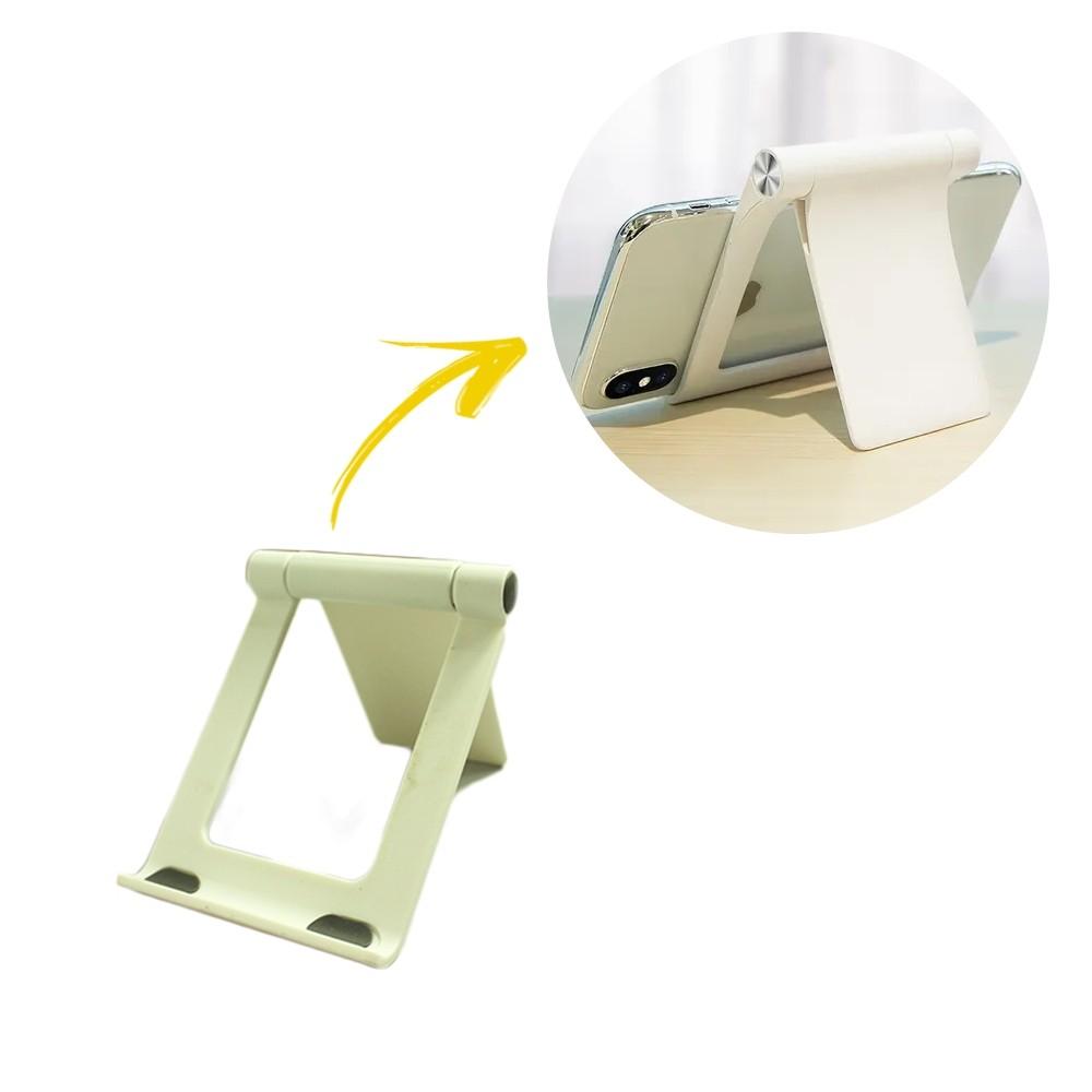 Suporte de Mesa para Celular e Tablets de Plástico Branco  - Shop Ud