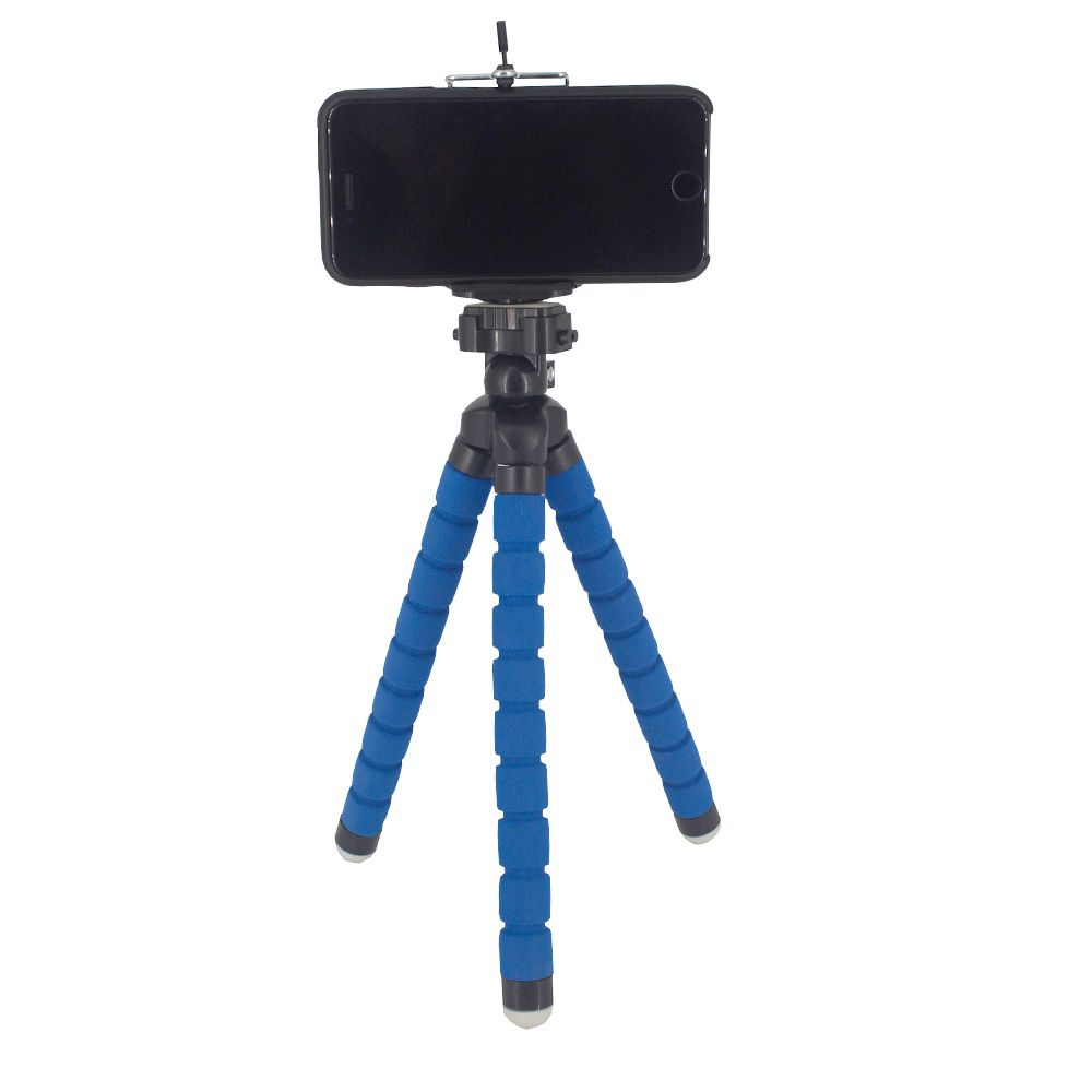 Suporte para Celular Câmera com Tripé Flexível - Azul