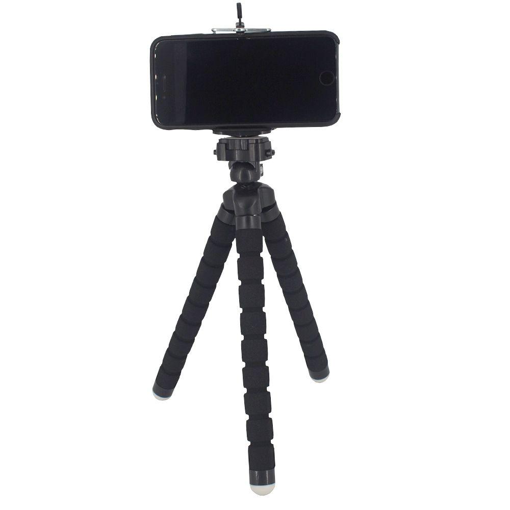 Suporte para Celular Câmera com Tripé Flexível - Preto