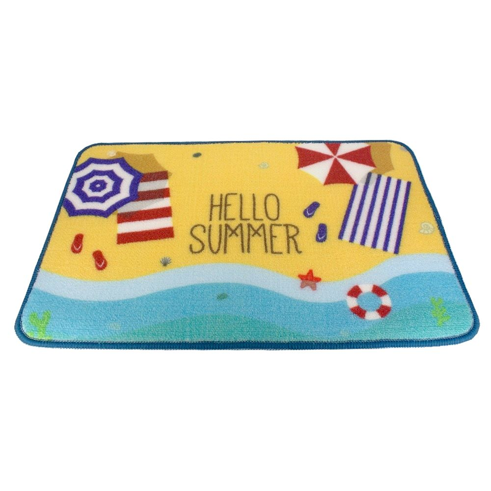 Tapete Decorativo Guarda-Sol Toalha Banho Hello Summer  - Shop Ud