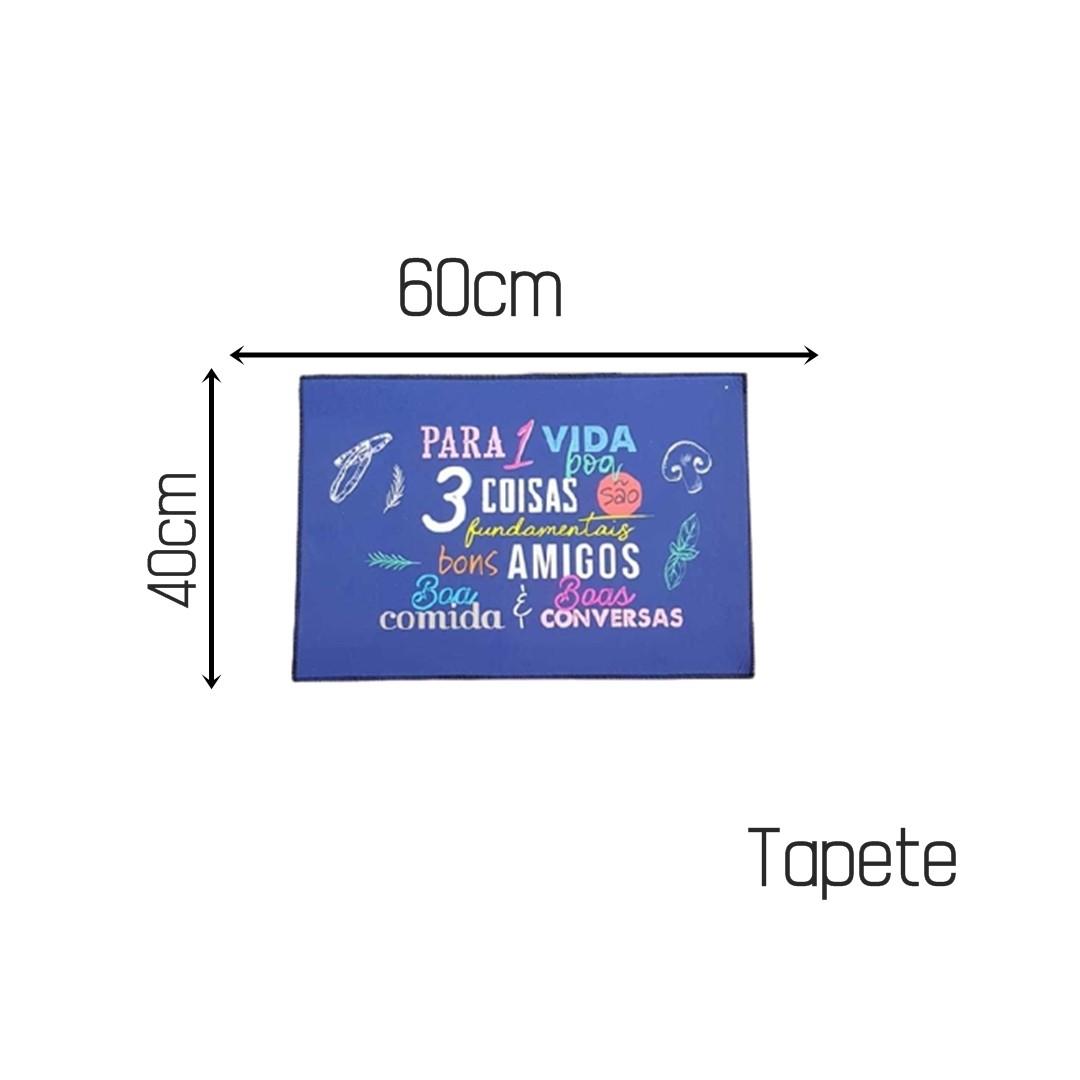 Tapete Para Cozinha Antiderrapante Uma Vida 38x58 cm  - Shop Ud