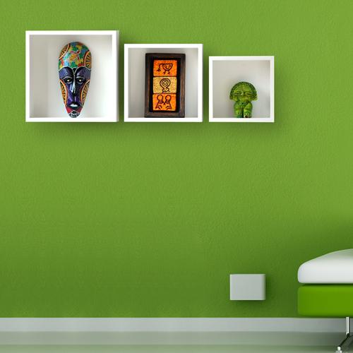 Trio de Nichos Decorativos em MDF - 3 peças - 25/30/35cm  - Shop Ud