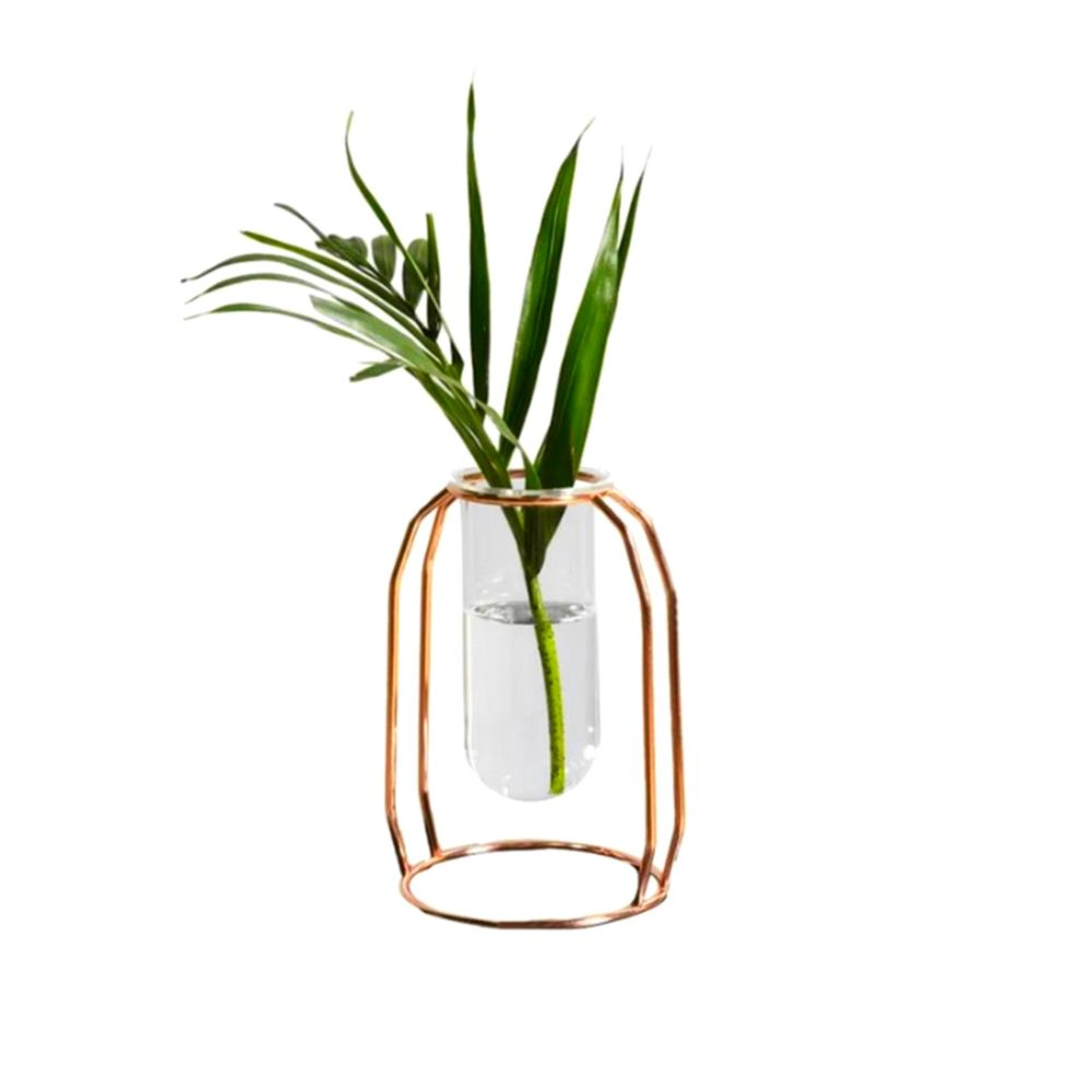 Vaso de Tubo De Ensaio Aramado - Pequeno - Rose Gold  - Shop Ud