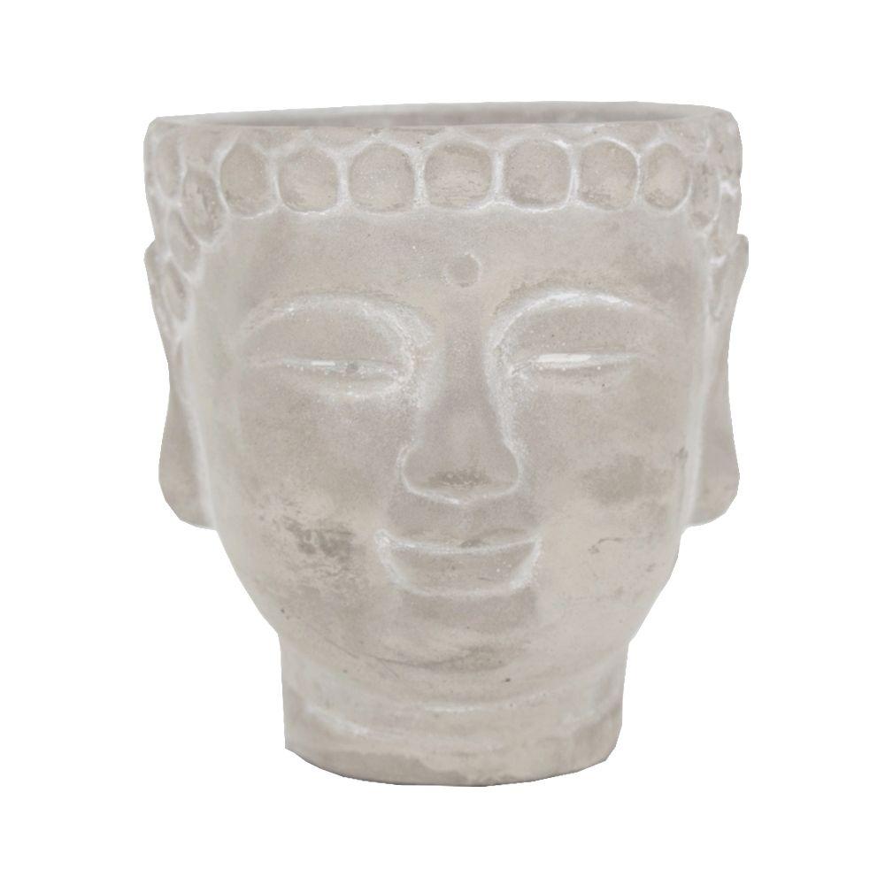 Vaso Decorativo de Cimento - Buda - 11,5 x 11,5 x 12,5 cm  - Shop Ud