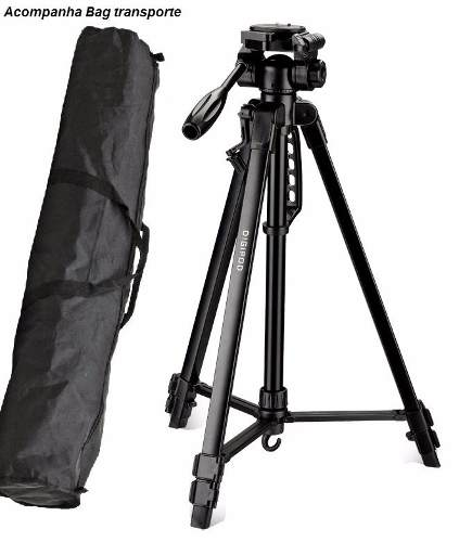 Tripé Com Bag Para Câmeras Nikon Canon Sony 1,70m Suporta 2,75kg - TR-672A