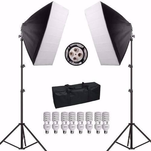 Kit Iluminação De Estúdio Fotográfico Atena Com 2 Softbox 50x70 - PKSB01 220V
