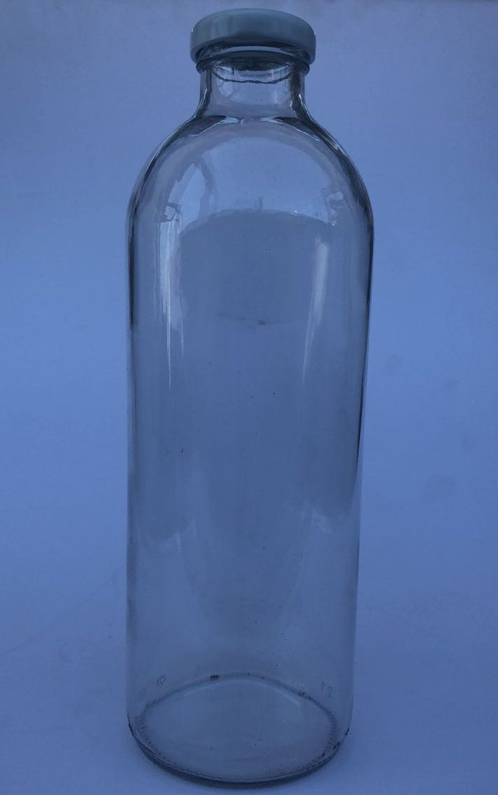 16 Garrafas De Vidro De 1 Litro - Tampa Branca - Para Suco, Leite, etc
