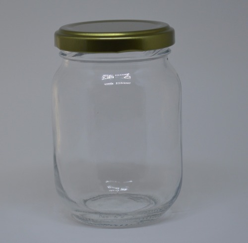 24 Potes De Vidro De 267ml - Tampa Metalizada - Para Mel, Azeitonas, Temperos, etc