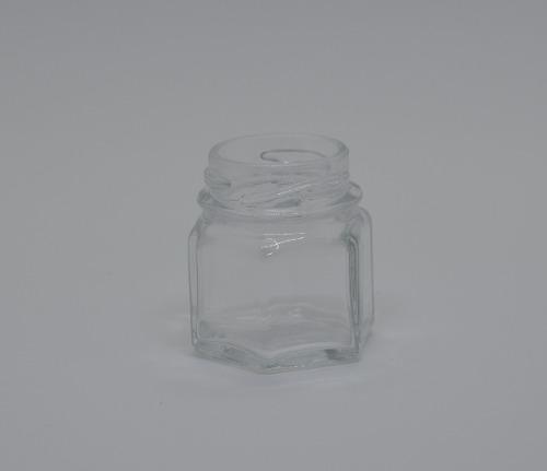 136 Potinhos De Vidro Sextavado 40ml - Tampa Dourada - Atacado Para Bala Confete